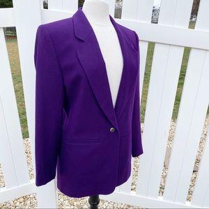 VTG Pendleton Virgin Wool Royal Purple Blazer